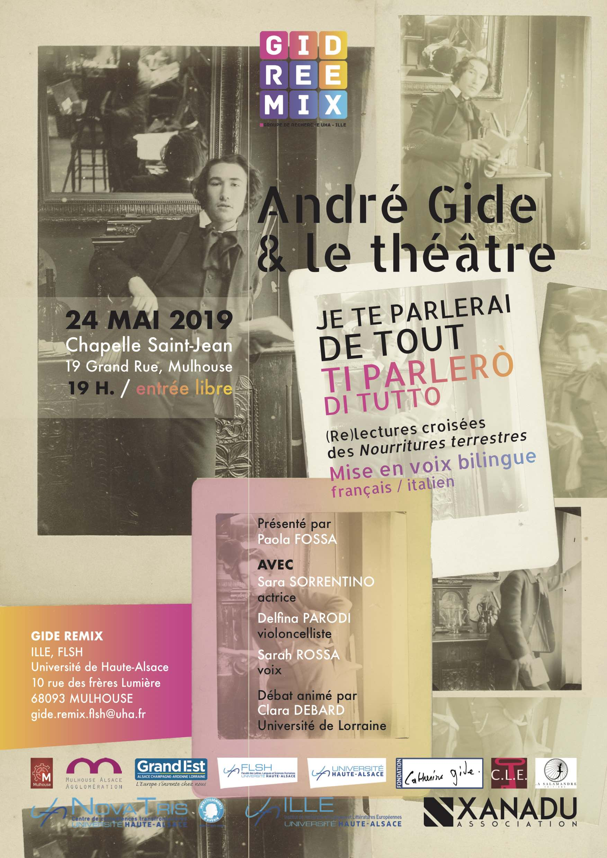 Affiche Gide Remix Theatre
